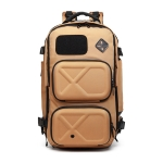 Ozuko 9309 Multifunctional Anti-theft Large Capacity Waterproof Outdoor Travel Backpack with External USB Charging Port, Size: S(Brown)