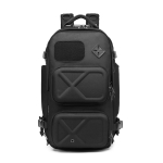 Ozuko 9309 Multifunctional Anti-theft Large Capacity Waterproof Outdoor Travel Backpack with External USB Charging Port, Size: L(Black)