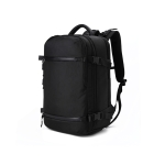 Ozuko 8983 Men Outdoor Waterproof Backpack Multi-Function Student Computer Travel Bag, Size: 17 inch(No Waist Bag)(Black)