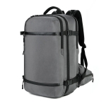 Ozuko 8983 Men Outdoor Waterproof Backpack Multi-Function Student Computer Travel Bag, Size: 20 inch(with Waist Bag)(Light grey)