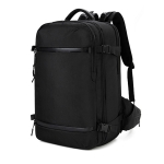 Ozuko 8983 Men Outdoor Waterproof Backpack Multi-Function Student Computer Travel Bag, Size: 20 inch(with Waist Bag)(Black)