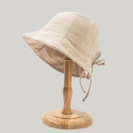 Back Bow Tie Fisherman Hat Summer All-Match Sunshade Tie Basin Hat, Colour: Beige(Free Size)