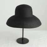 Big Eaves Straw Hat  Female Summer Sunscreen Basin Hat Beach Vacation Sunhat Fisherman Hat, Colour: Black(M(56-58cm))