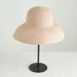Big Eaves Straw Hat  Female Summer Sunscreen Basin Hat Beach Vacation Sunhat Fisherman Hat, Colour: Pink(M(56-58cm))