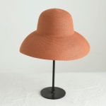 Big Eaves Straw Hat  Female Summer Sunscreen Basin Hat Beach Vacation Sunhat Fisherman Hat, Colour: Orange(M(56-58cm))