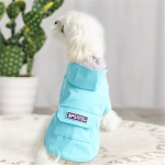 Dog Raincoat Hooded Four-Legged Clothes Waterproof All-Inclusive Small Dog Pet Raincoat, Size: S(Lake Blue)