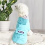 Dog Raincoat Hooded Four-Legged Clothes Waterproof All-Inclusive Small Dog Pet Raincoat, Size: M(Lake Blue)