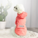 Dog Raincoat Hooded Four-Legged Clothes Waterproof All-Inclusive Small Dog Pet Raincoat, Size: L(Pink)