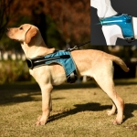 K-Shaped Luminous LED Harness for Pet Dogs without Rope, Size:L(Lake Blue With Light)