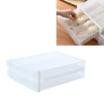 Household Drawer Dumpling Box Refrigerator Storage Box, Specification: Double Layer