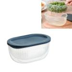 3 PCS Kitchen Chopped Green Onion Storage Box Refrigerator Food Storage Box Transparent Drain Sealed Box(Night Sky Blue)