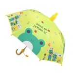Student Sunshade Umbrella Cartoon Children Long Handle Umbrella With Waterproof Sleeve(Frog)