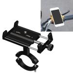 2 PCS Aluminum Alloy Bicycle Mobile Phone Holder Motorcycle Mobile Phone Navigation Bracket Electric Motorcycle Hand Rack(Black (Handlebar Style))