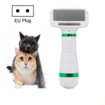 2 in 1 Pet Hair Dryer Comb for Dog and Cat Drying Hot Air Hair Removal Comb, Product specifications: EU Plug 220V(White Green)