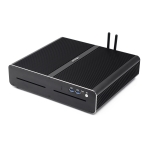HYSTOU F8 Windows System Mini PC, Intel Core i7-7920HQ 4 Core 8 Threads up to 3.10GHz, Support M.2, WiFi, 16GB RAM DDR4 + 512GB SSD