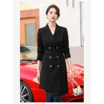 Long Waist Coat With Slits And Cardigan (Color:Black Size:XL)