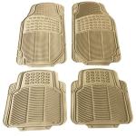 [US Warehouse] 4 PCS Replacement Anti-slip Rubber Car Floor Mats 88209(Beige)