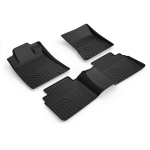 [US Warehouse] Custom Fit 3D TPE All Weather Car Floor Mats Liners for Nissan Altima 2019-2020(Black)