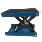 [US Warehouse] Steel Scissor Lifting Adjustable Platform for Motorcycle, Load-bearing: 1100lbs, Adjustable Range: 3.25-13.25 inch(Blue)