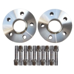[US Warehouse] 2 PCS 20mm 5x112PCD 57.1CB 14×1.5 Thread Spacers with 10 PCS Radius Bolts for Audi / VW / Skoda Seat