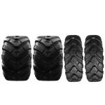 [US Warehouse] 4 PCS 25×8-12 25-10-12 4PR Z-134 ATV Replacement Tubeless Tires