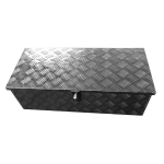 [US Warehouse] Car Flower Texture Aluminum Plate Toolbox with Lock, Size: 74×32.5x22cm