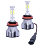 2 PCS X15 H8 / H9 / H11 DC 9-32V 26W 6500K 8000LM IP68 Car LED Headlight Lamps / Fog Light