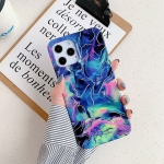 For iPhone 12 Laser Marble Pattern TPU Protective Case(Fantasy)