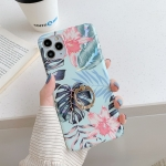 For iPhone 11 Laser Flowers Pattern TPU Protective Case with Ring Holder(Fresh Red Flower)