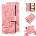 For LG K61 Tiger Embossing Pattern Horizontal Flip Leather Case with Holder & Card Slots & Wallet(Pink)