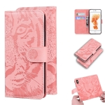 For iPhone 6s Plus / 6 Plus Tiger Embossing Pattern Horizontal Flip Leather Case with Holder & Card Slots & Wallet(Pink)