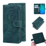 For Xiaomi Redmi Note 8 Pro Tiger Embossing Pattern Horizontal Flip Leather Case with Holder & Card Slots & Wallet(Green)