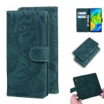 For Xiaomi Redmi Note 9 / 10X 4G Tiger Embossing Pattern Horizontal Flip Leather Case with Holder & Card Slots & Wallet(Green)