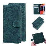 For Xiaomi Redmi Mi 10 / 10 Pro Tiger Embossing Pattern Horizontal Flip Leather Case with Holder & Card Slots & Wallet(Green)