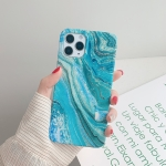 Marble Pattern TPU Protective Case for iPhone 11 Pro Max(Shining Green)