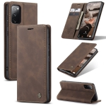 For Samsung Galaxy S20 FE CaseMe 013 Multifunctional Horizontal Flip Leather Case with Holder & Card Slot & Wallet(Coffee)