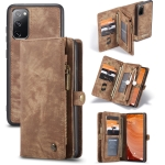 For Samsung Galaxy S20 FE CaseMe 008 Detachable Multifunctional Horizontal Flip Leather Case with Holder & Card Slot & Zipper Wallet & Photo Frame(Brown)