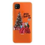 For Xiaomi Redmi 9C Christmas Series Transparent TPU Protective Case(Christmas Pajamas)