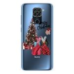 For Xiaomi Redmi Note 9 Christmas Series Transparent TPU Protective Case(Christmas Pajamas)