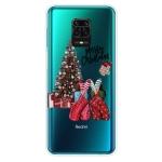 For Xiaomi Redmi Note 9S Christmas Series Transparent TPU Protective Case(Christmas Pajamas)