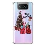 For ASUS Zenfone 7 Pro ZS671KS Christmas Series Transparent TPU Protective Case(Christmas Pajamas)