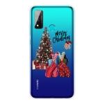 For Huawei P Smart 2020 Christmas Series Transparent TPU Protective Case(Christmas Pajamas)