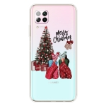 For Huawei P40 Lite & Nova 6 SE Christmas Series Transparent TPU Protective Case(Christmas Pajamas)