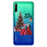 For Huawei P40 Lite E Christmas Series Transparent TPU Protective Case(Christmas Pajamas)