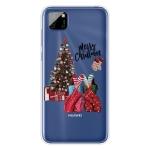 For Huawei Y5p Christmas Series Transparent TPU Protective Case(Christmas Pajamas)