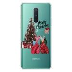 For OnePlus 8 Christmas Series Transparent TPU Protective Case(Christmas Pajamas)