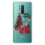 For OnePlus 8 Pro Christmas Series Transparent TPU Protective Case(Christmas Pajamas)