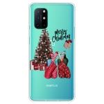 For OnePlus 8T Christmas Series Transparent TPU Protective Case(Christmas Pajamas)
