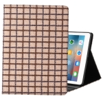 Woolen Plaid Pattern Horizontal Flip Leather Case with Holder & Sleep / Wake-up Function For iPad 9.7 (2018) & (2017)(Brown)