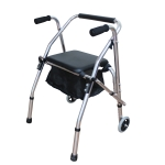 [US Warehouse] Aluminum Tube Walker with Seat Cushion (Silver)